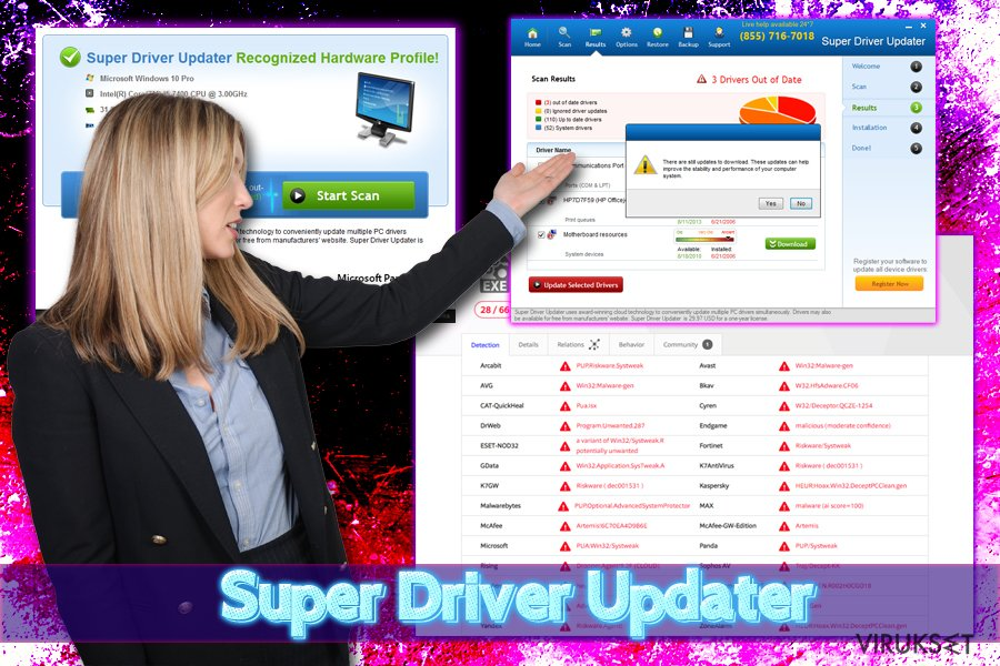Super Driver Updater mainosohjelma