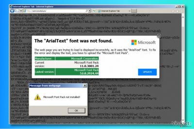 """""""The ArialText font was not found"""" mainokset"""