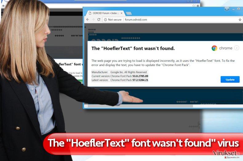 """""""The HoeflerText font wasn't found"""" mainokset kuvankaappaus"""