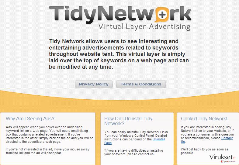 TidyNetwork.com kuvankaappaus
