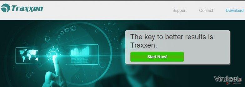 Traxxen mainosohjelma kuvankaappaus