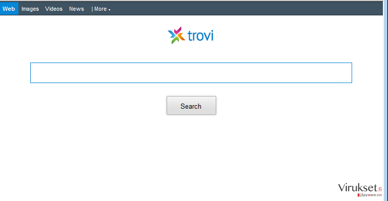 Trovi.com uudellenohjaus kuvankaappaus