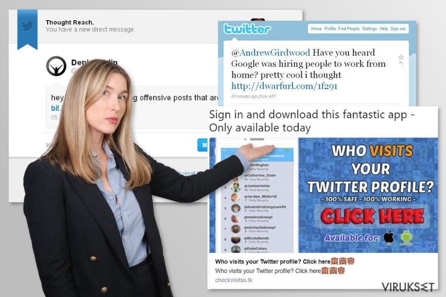 Twitter virus kuvankaappaus
