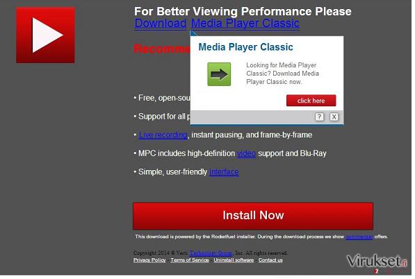 Updates.com mainokset kuvankaappaus