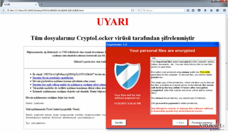 An illustration of Uyari ransomware