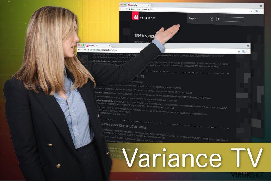 Kuva Variance TV mainoksista