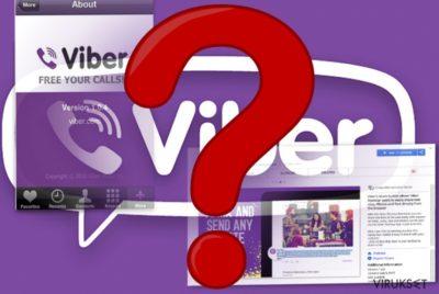 Viber mobiilisovelluksen ja selaimen laajennuksen kuva