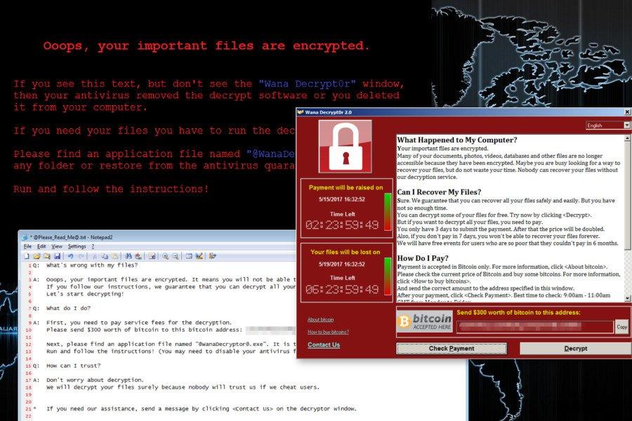 Wana Decrypt0r lunnasohjelma virus