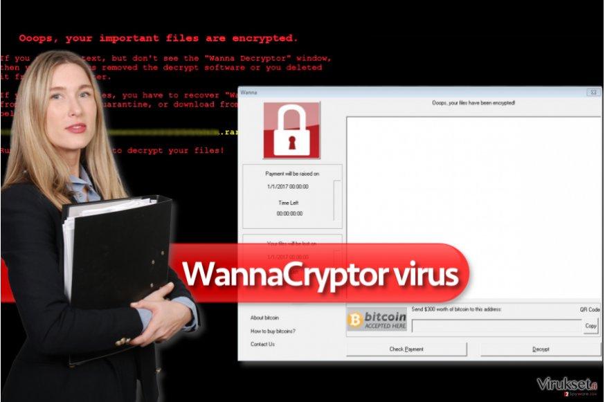 WannaCryptor lunnasohjelma virus