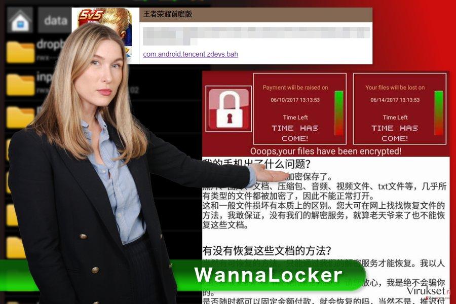 WannaLocker lunnasohjelma virus kuva