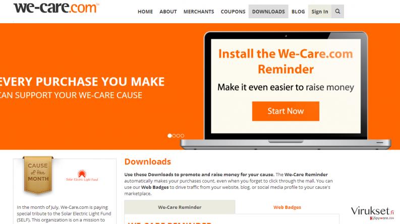 We-care.com kuvankaappaus