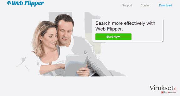 Web Flipper mainokset kuvankaappaus