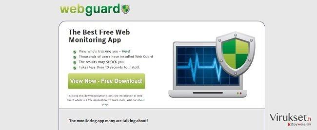 Web Guard virus kuvankaappaus