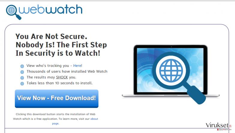 Web Watch mainokset kuvankaappaus