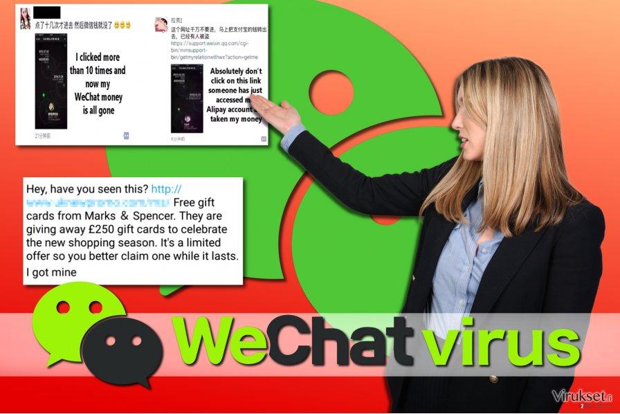 WeChat viruksen esimerkit