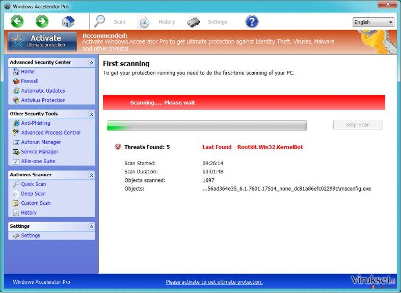 Windows Accelerator Pro kuvankaappaus