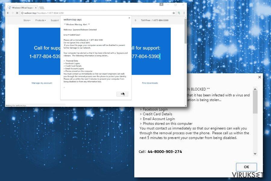 Windows Warning Alert huijauksen kuva