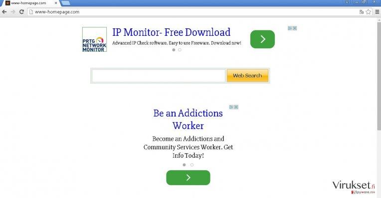 Www-homepage.com hijack kuvankaappaus