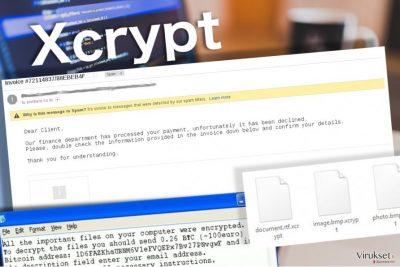 XCrypt virus jättää tämän lunnasviestin uhreilleen