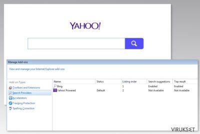 Yahoo Powered viruksen kuva