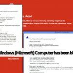 Your Windows (Microsoft) Computer has been blocked tekaistu varoitus