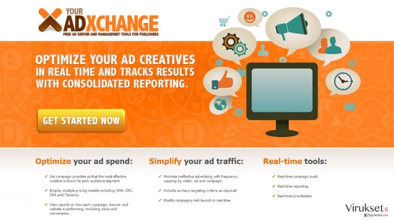 YourAdExchange.com pop-up mainokset kuvankaappaus