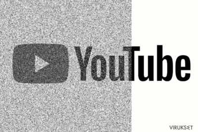 Kuva joka näyttää saastuneen Youtube sivun